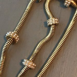 Ann Taylor Jewelry - Ann Taylor Gold Tone Long Necklace